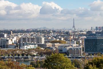 Foto auf Gartenposter Paris Panorama Paris