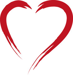 Red heart - symbol of love, romance, wedding, valentine, happy valentine