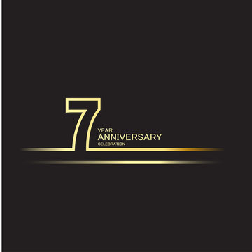 7 Year Anniversary Vector Template Design Illustration