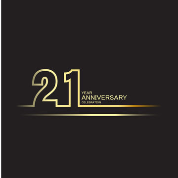 21 Year Anniversary Vector Template Design Illustration