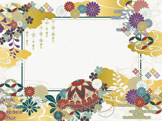 和柄背景素材レトロポップ Wall mural