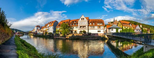 Fototapete - Altstadt, Wertheim, Deutschland