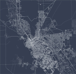map of the city of El Paso, Texas, USA