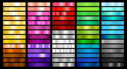 Metal and Color Gradient Collection of Swatches