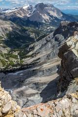 Paysage du Massif du Dévoluy , au printemps , Hautes-Alpes