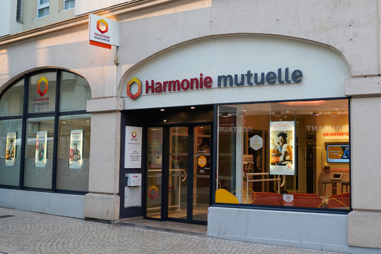 harmonie Mutuelle insurance logo sign office store building shop