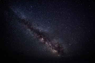 Colorful space shot showing the universe milky way galaxy with stars and space dust. long exposure
