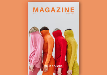 Magazine Layout with Bold Text Elements