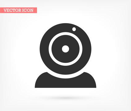 Webcam vector icon , lorem ipsum Flat design
