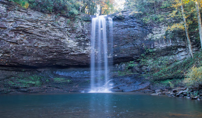 Aluminium Prints Forest river Fall Hike, Waterfall View at Cloudland Canyon