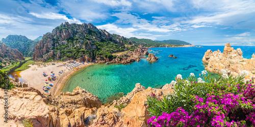 Wall mural Costa Paradiso landscape, with wild Spiaggia di Li Cossi, Sardinia