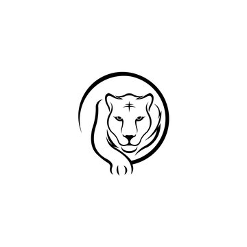 Walking tiger sports logo, Tiger icon isolated on white background, Tiger icon trendy and modern symbol for graphic and web design, Tiger icon flat vector