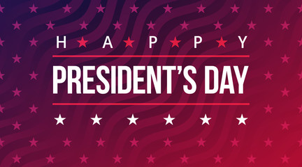 Happy Presidents Day. American style holiday banner with text