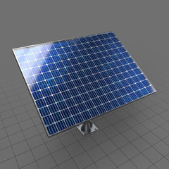 Solar panel on pole stand