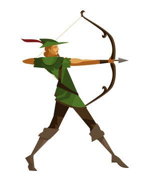 robin hood ranger archer aiming