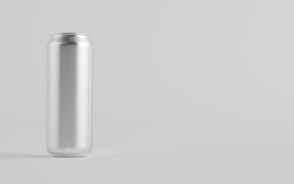 16 oz. / 500ml Aluminium Beer / Soda / Energy Drink Can Mockup - One Can.  3D Illustration