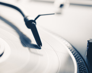 abstract turntable with vinyl record