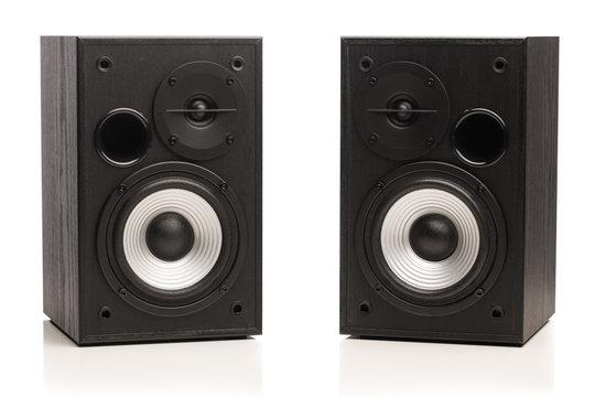 audio sound speakers, isolated on white