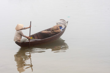 woman boat