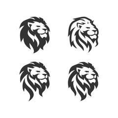 Lion Head Logo Design Template Vector illustration