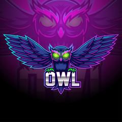 Owl esport mascot logo design