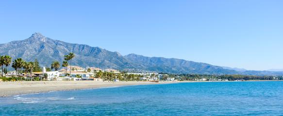 Fotobehang Mediterraans Europa Rio Verde Beach in Marbella, Malaga, Spain