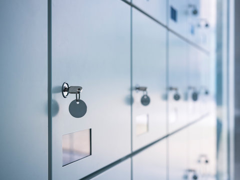 Lockers with key in Locker Room Safety system Public building
