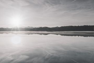 December morning Langbürgner See