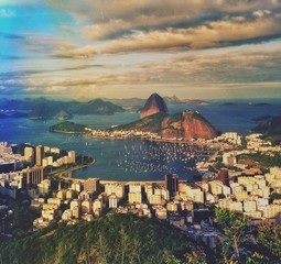 City At Botafogo Bay In Rio De Janeiro Against Sky