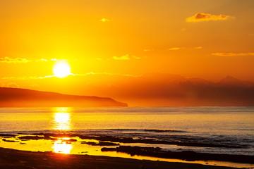 Fototapete - Sea sunset