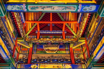 Wall Murals Place of worship Traditional Chinese pavilion roof