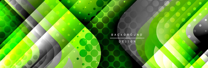Round squares shapes composition geometric abstract background. Vector Illustration Wall mural