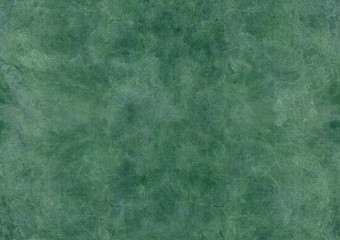 Watercolor grunge background in grassy green colors. Light marble streaks, abstract patterns, stains, cracks. Beautiful variegated rough texture for decoration, wallpaper, print, banner, presentation