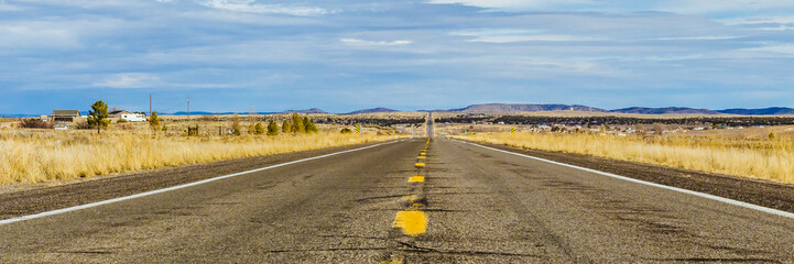 Türaufkleber Route 66 Empty U.S road, Arizona State Route 66