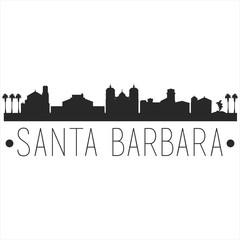 Estores personalizados con motivos artísticos con tu foto Santa Barbara California. City Skyline. Silhouette City. Design Vector. Famous Monuments.