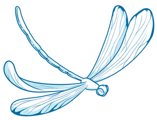 illustration in vectors of a dragonfly