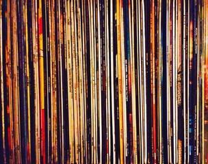 Fototapeta Full Frame Shot Of Records Collection obraz