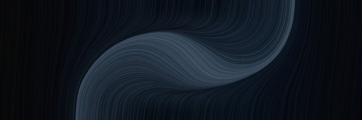Türaufkleber Fractal Wellen flowing banner design with black, dark slate gray and very dark blue colors. dynamic curved lines with fluid flowing waves and curves