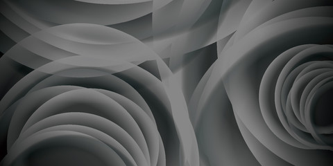 Abstract black and white swirl background