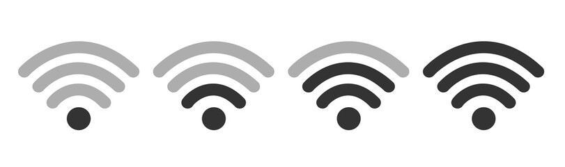 Wifi Wireless W Lan Internet Signal Flat Icons For Apps Or Websites - Isolated On white Background Fototapete