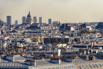 Fototapete - Paris city in daytime view from high up