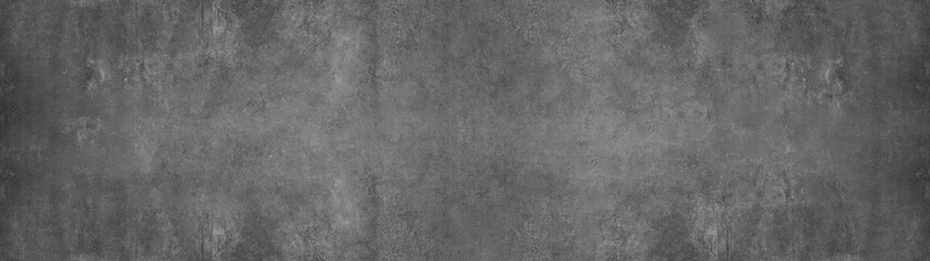 Poster Concrete Wallpaper black grey gray stone concrete texture background anthracite panorama banner long
