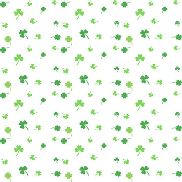 Green four and three leaf clover