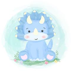 Custom vertical slats with your photo cute dinosaurs illustration, animals illustration, cute animals