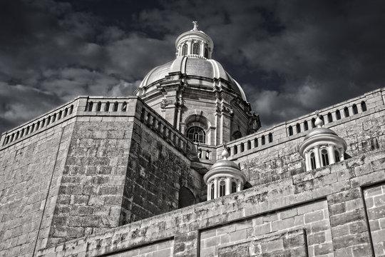 The Tower of the Dingli Church in Malta