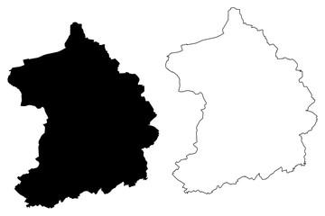 Essen City (Federal Republic of Germany, North Rhine-Westphalia) map vector illustration, scribble sketch City of Essen map