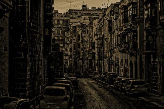Old Vintage Streets in Valletta, Malta