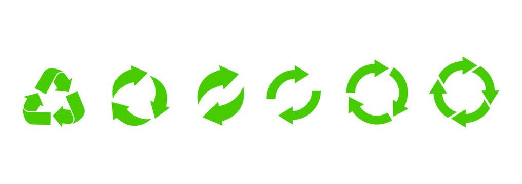 Recycle icon. Recycle vector symbols. Vector illustration
