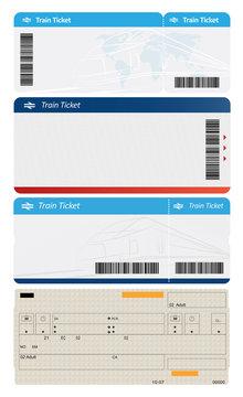 Blank tickets on white background