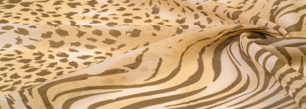 Texture, pattern, collection, silk fabric, African theme, animal skins, brown tones, Watercolor Background Photos Printed Props Princess Girl Birthday
